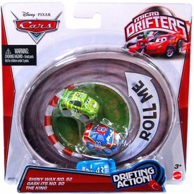Disney / Pixar CARS Movie Micro Drifters 3-Pack Shiny Wax, Gask-Its & King