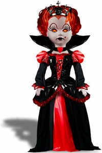 Mezco Toyz Living Dead Dolls Alice In Wonderland Figure Inferno as Queen of Hearts