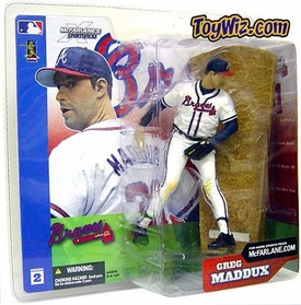 McFarlane Toys MLB Sports Picks Series 2 Action Figure Greg Maddux (Atlanta Braves) White Jersey