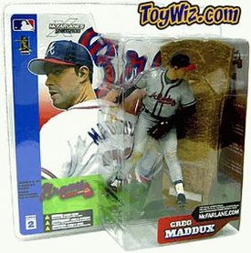 McFarlane Toys MLB Sports Picks Series 2 Action Figure Greg Maddux (Atlanta Braves) Gray Jersey Variant