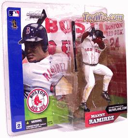 McFarlane Toys MLB Sports Picks Series 2 Action Figure Manny Ramirez (Boston Red Sox) White Jersey Variant