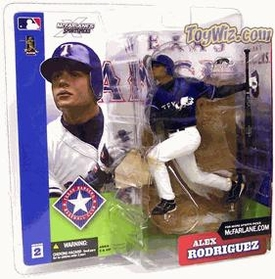 McFarlane Toys MLB Sports Picks Series 2 Action Figure Alex Rodriguez (Texas Rangers) Blue Jersey Variant