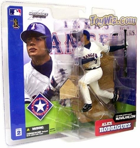 McFarlane Toys MLB Sports Picks Series 2 Action Figure Alex Rodriguez (Texas Rangers) White Jersey