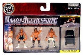 WWE Wrestling Micro Aggression Series 9 Figure 3-Pack CM Punk, Finlay & John Morrison