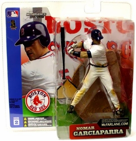 McFarlane Toys MLB Sports Picks Series 2 Action Figure Nomar Garciaparra (Boston Red Sox) White Jersey