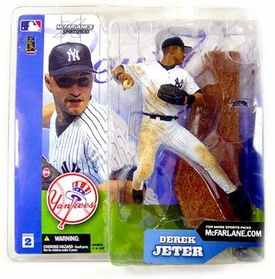 McFarlane Toys MLB Sports Picks Series 2 Action Figure Derek Jeter (New York Yankees) White Pinstripe Jersey