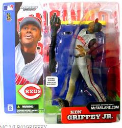 McFarlane Toys MLB Sports Picks Series 2 Action Figure Ken Griffey Jr. (Cincinnati Reds) Gray Jersey