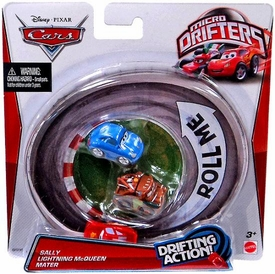 Disney / Pixar CARS Movie Micro Drifters 3-Pack Sally, Lightning McQueen & Mater