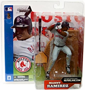 McFarlane Toys MLB Sports Picks Series 2 Action Figure Manny Ramirez (Boston Red Sox) Gray Jersey