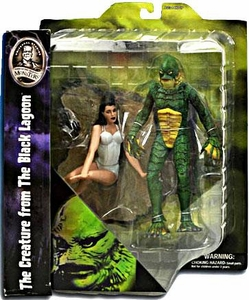 Universal Monsters Select Action Figure Creature From The Black Lagoon with Kay Lawrence