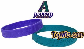 Official MLB Team Rubber Bracelet Arizona Diamond Backs[Purple]