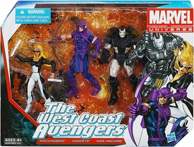 Marvel Universe 3.75 Inch Action Figure 3-Pack West Coast Avengers [Mockingbird, Hawkeye & War Machine]