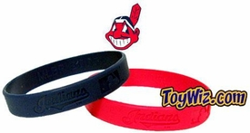 Official MLB Major League Baseball Team Rubber Bracelet Cleveland Indians (Random Color)