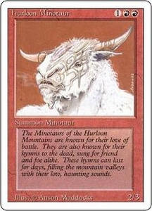 Magic the Gathering Revised Edition Single Card Common Hurloon Minotaur