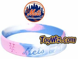 Official MLB Major League Baseball Team Rubber Bracelet Girls Style New York Mets [Marble Color]