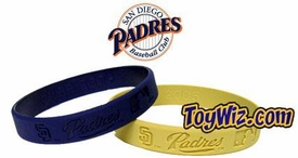 Official MLB Major League Baseball Team Rubber Bracelet San Diego Padres [Random Color]