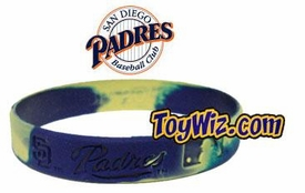 Official MLB Major League Baseball Team Rubber Bracelet San Diego Padres [Marble Color]