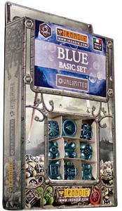 IronDie Solid Metal Designer Dice Strategy Game Blue Basic Starter Set