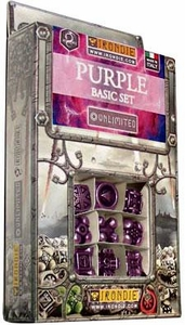 IronDie Solid Metal Designer Dice Strategy Game Purple Basic Starter Set