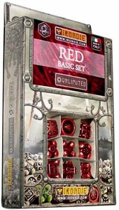 IronDie Solid Metal Designer Dice Strategy Game Red Basic Starter Set