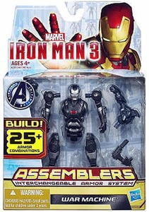 Iron Man 3 Assemblers Series 1 Action Figure War Machine [Black & Silver]