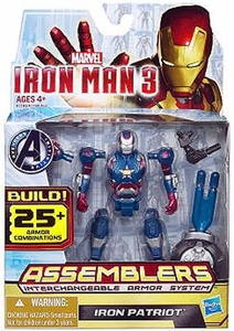 Iron Man 3 Assemblers Series 1 Action Figure Iron Patriot [Blue, Silver & Red]
