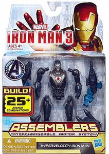 Iron Man 3 Assemblers Series 1 Action Figure Hypervelocity Iron Man [Gunmetal]