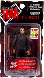 Mezco Toyz Cinema of Fear Friday the 13th ToyFair Exclusive 3 3/4 Inch Action Figure Jason Voorhees Only 1,000 Made!