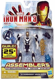 Iron Man 3 Assemblers Series 1 Action Figure Starboost Iron Man [White & Gray]
