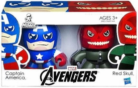 Marvel Avengers Movie Mini Mighty Muggs 2-Pack Captain America & Red Skull BLOWOUT SALE!