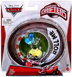 Disney / Pixar CARS Movie Micro Drifters 3-Pack Red, Guido & Luigi
