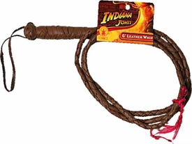 Indiana Jones Rubies Costume #8186 Indiana Jones Leather Whip [6 Feet Long!] Hot!