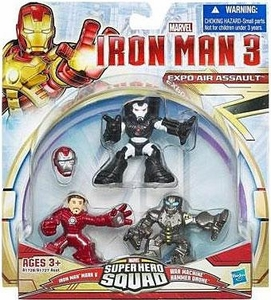 Iron Man 3 Super Hero Squad 3-Pack Expo Air Assault [Iron Man Mark V, War Machine & Hammer Drone]