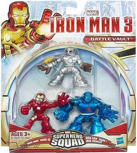 Iron Man 3 Super Hero Squad 3-Pack Battle Vault [Iron Man Mark I, Mark III & Iron Monger]