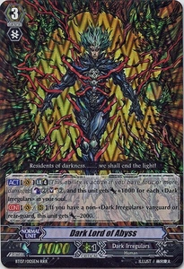 Cardfight Vanguard ENGLISH Rampage of the Beast King Single Card RRR Rare BT07-005EN Dark Lord of Abyss