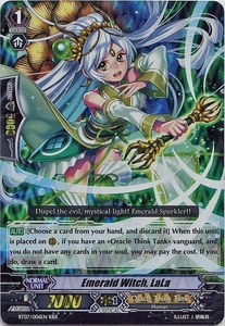 Cardfight Vanguard ENGLISH Rampage of the Beast King Single Card RRR Rare BT07-006EN Emerald Witch, LaLa