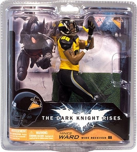McFarlane Toys NFL Sports Picks Dark Knight Rises Action Figure Hines Ward (Gotham Rogues)
