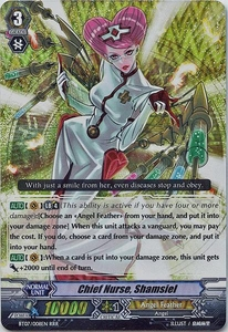 Cardfight Vanguard ENGLISH Rampage of the Beast King Single Card RRR Rare BT07-008EN Chief Nurse, Shamsiel