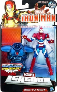 Iron Man 3 Marvel Legends Series 1 Action Figure Iron Patriot [Build Iron Monger Piece!]