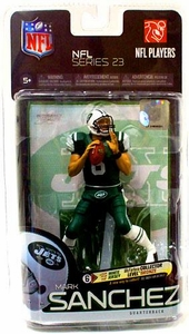 McFarlane Toys NFL Sports Picks Exclusive Action Figure Mark Sanchez (New York Jets) Green Jersey & Green Pants Variant BLOWOUT SALE!