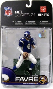 McFarlane Toys NFL Sports Picks Exclusive Action Figure Brett Favre (Minnesota Vikings) Purple Jersey