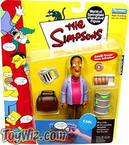 The Simpsons Series 6 Playmates Action Figure Carl Carlson