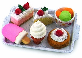 Iwako Japanese Food Eraser Set Cakes & Ice Cream [Colors May Vary]