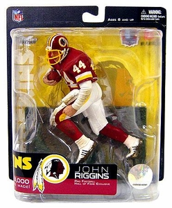 McFarlane Toys NFL Sports Picks Pro Football Hall of Fame Exclusive Action Figure John Riggins (Washington Redskins) Red Jersey Only 3,000 Made!