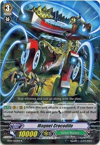 Cardfight Vanguard ENGLISH Rampage of the Beast King Single Card Rare BT07-023EN Magnet Crocodile