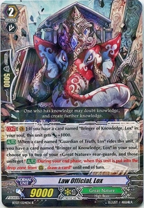 Cardfight Vanguard ENGLISH Rampage of the Beast King Single Card Rare BT07-024EN Law Official, Lox