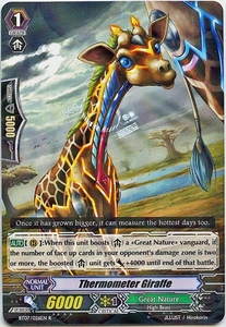 Cardfight Vanguard ENGLISH Rampage of the Beast King Single Card Rare BT07-026EN Thermometer Giraffe