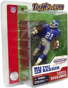 McFarlane Toys NFL Sports Picks 2003 National Exclusive Action Figure Tiki Barber (Giants)