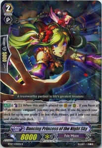Cardfight Vanguard ENGLISH Rampage of the Beast King Single Card Rare BT07-030EN Dancing Princess of the Night Sky