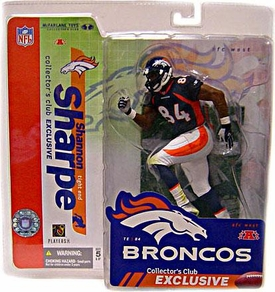 McFarlane Toys NFL Sports Picks Collectors Club Exclusive Action Figure Shannon Sharpe (Denver Broncos) Blue Jersey